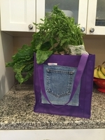 Image Reusable Grocery Sack with jean pocket